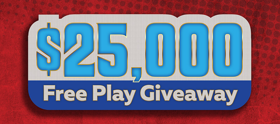 25k free play giveaway
