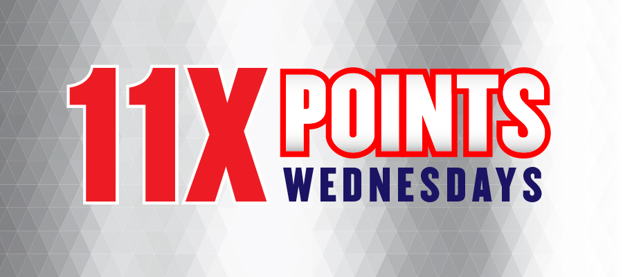 11X Points Multiplier Wednesdays
