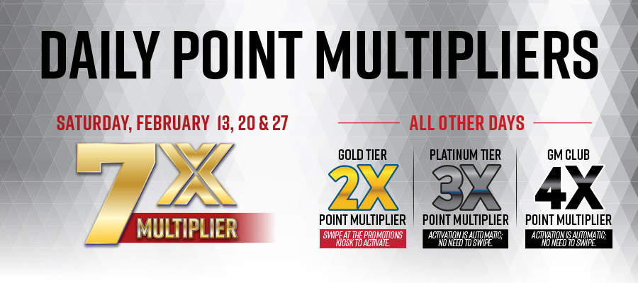 February Daily Points Multiplier