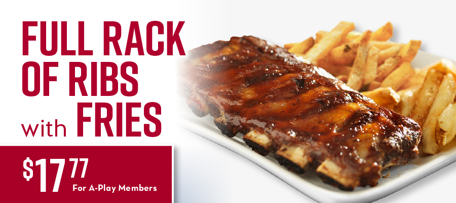 Full Rack Of Ribs with Fries