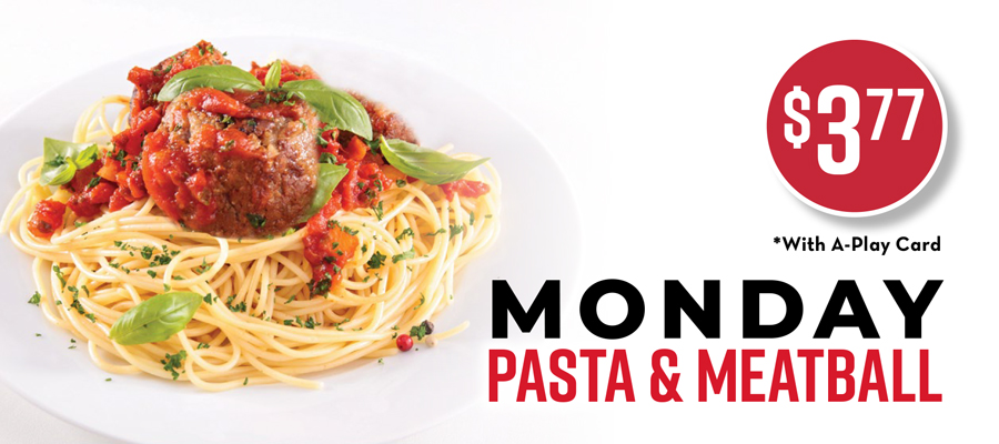 Monday Pasta & Meatball Special